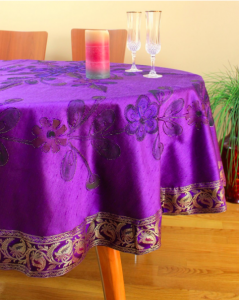Hand Painted Floral Round Tablecloth
