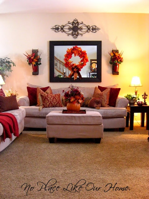 Easy fall decorating ideas for Fall living room decorating ideas