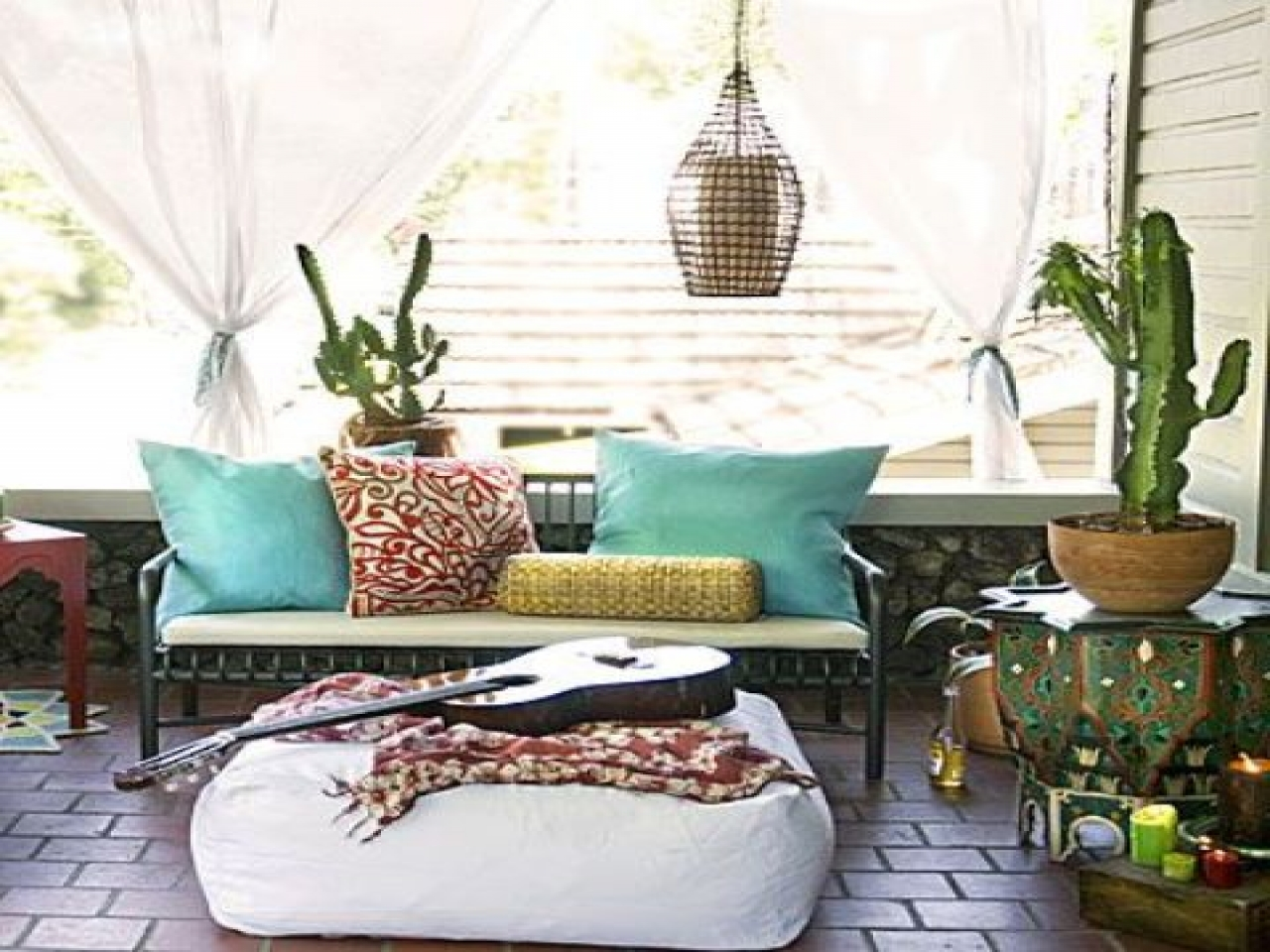 Hipster Patio7 Seriously Stunning Outdoor Boho Areas. Diy Boho Chic Home Decor. Home Design Ideas