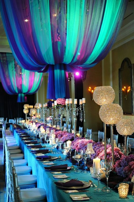 turquoise-purple-wedding