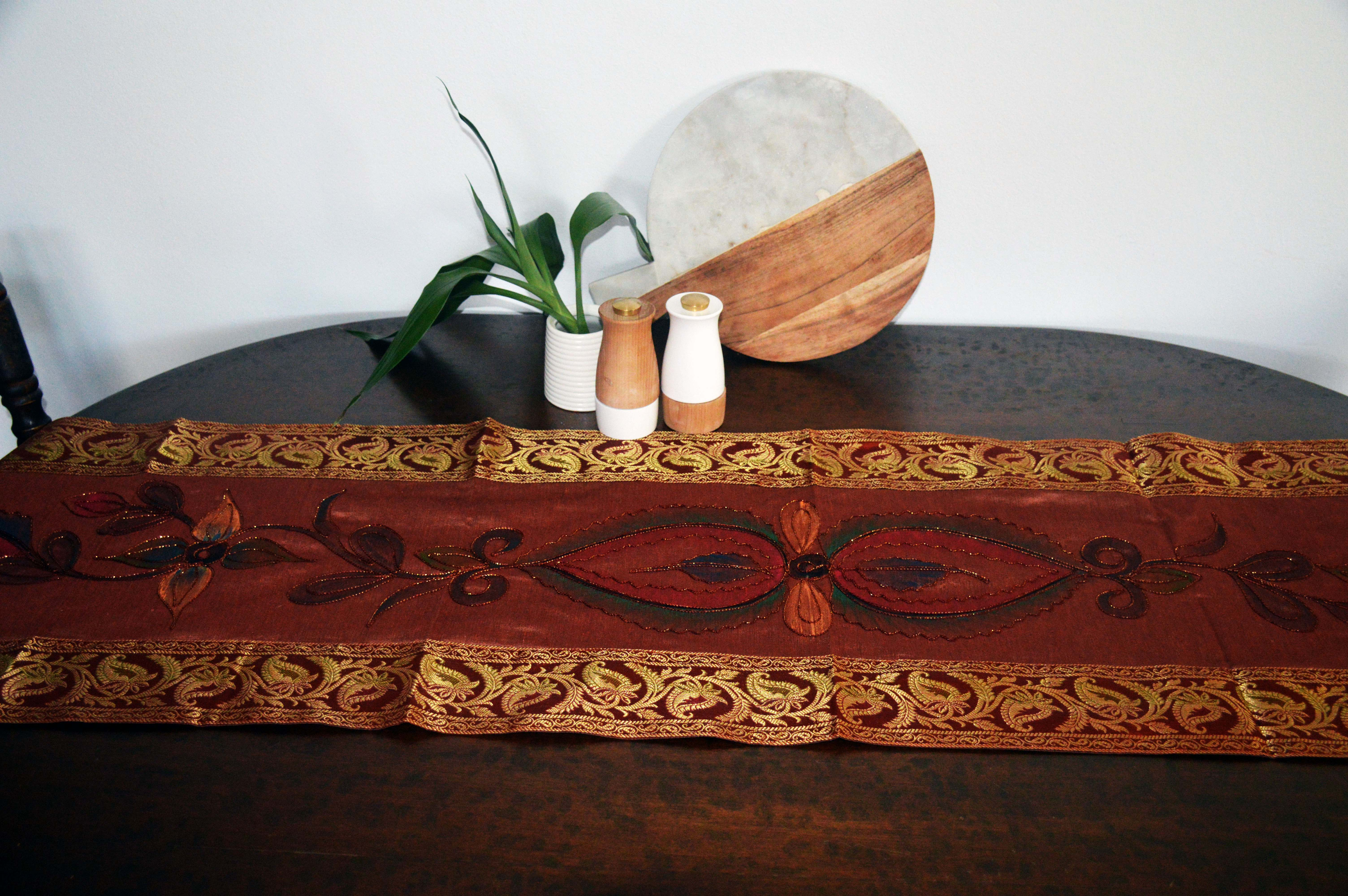 Floral Indian Style Table Runner