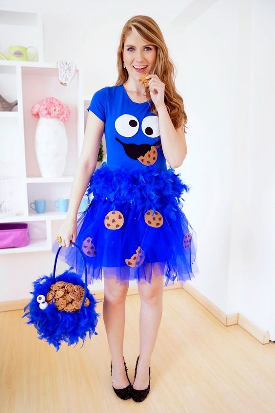 diy-cute-halloween-costumes-cookie-monster