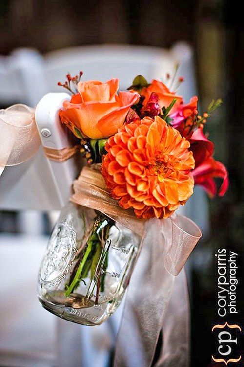 Fall Colored Wedding Centerpiece Ideas : Fall wedding color palettes that are the sheer definition