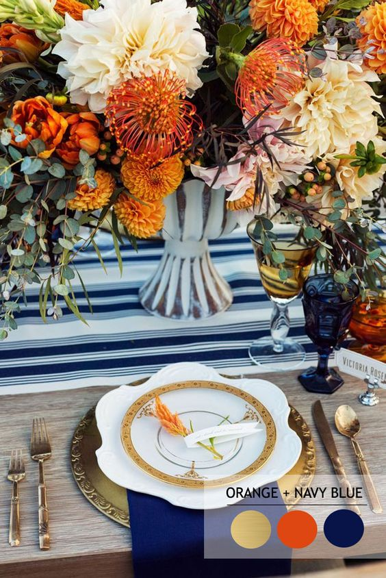 orange-navy-fall-table-wedding