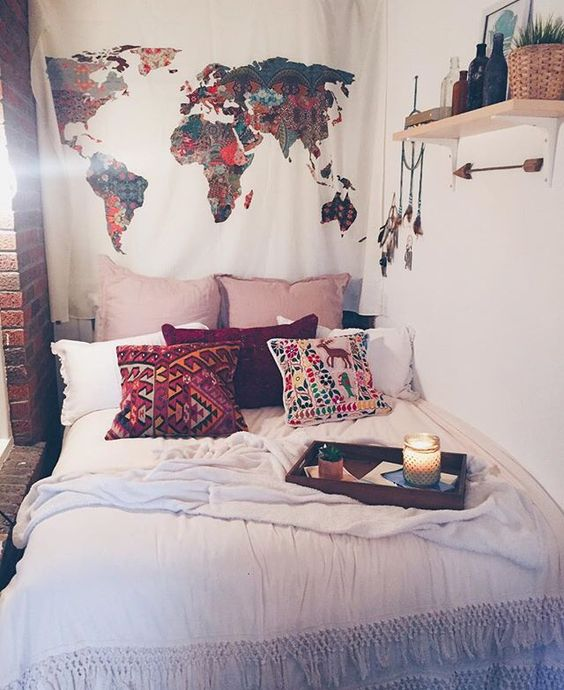 Bohemian Bedroom Ideas For College Dorms ~ 170956_Etsy Dorm Room Ideas