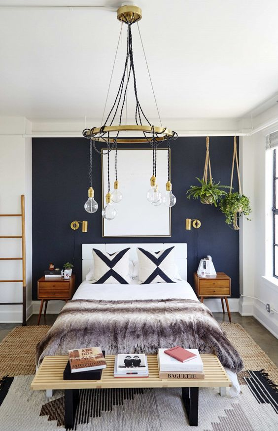 bedroom-with-navy-blue-accent-wall