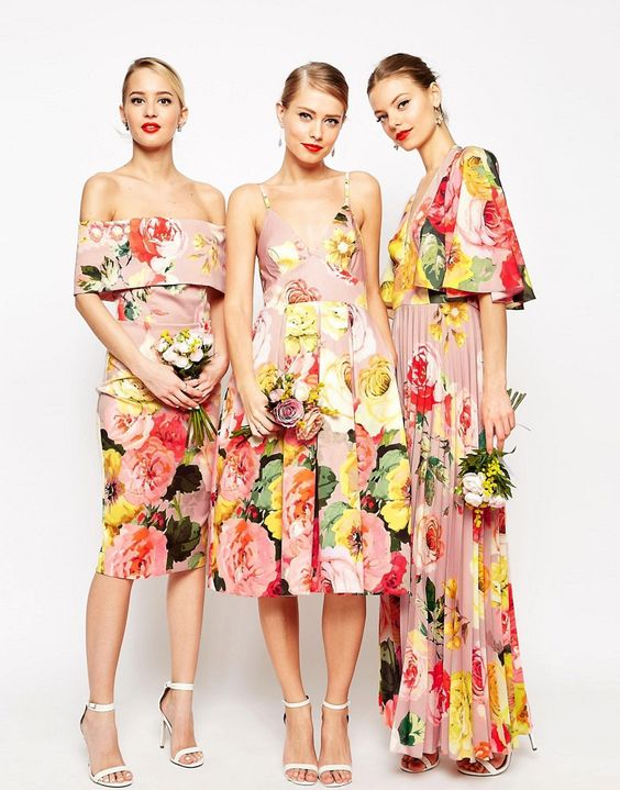 tropical-floral-bridesmaid-dresses