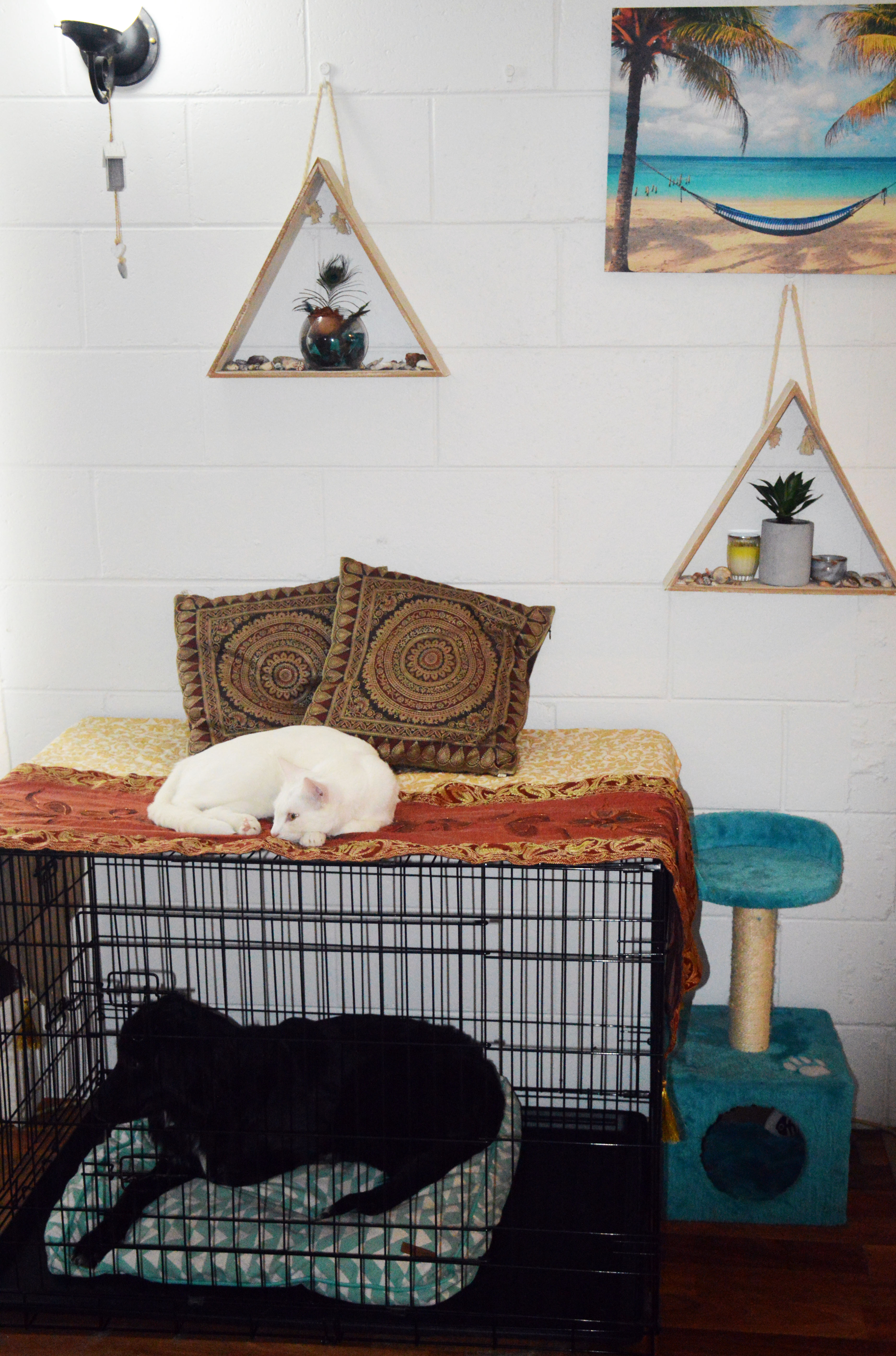 DIY Dog Crate Bunk Bed