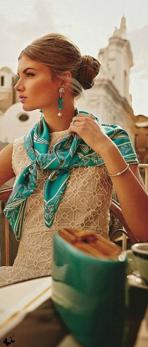 statement-scarf-over-lace-dress