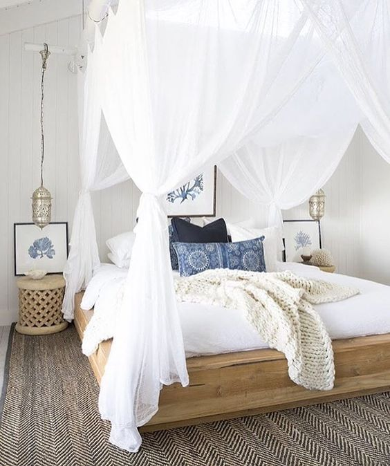 Boho Decor 4 Poster Bed