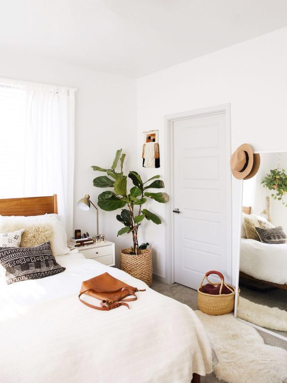 Minimalist Boho Bedroom With Plants