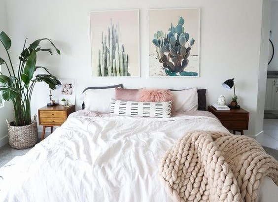 minimalist boho bedrooms that are beyond cute. Black Bedroom Furniture Sets. Home Design Ideas