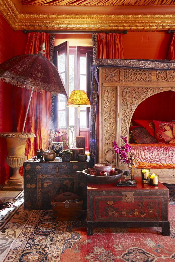 India Inspired Bedroom. india inspired bedroom. indian inspired ...
