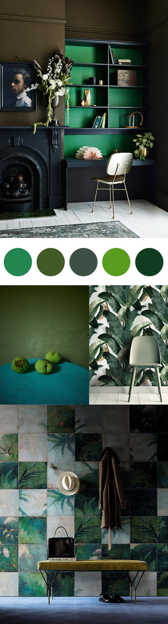 10 home decor color combinations that are actually magic for Green decorations for home