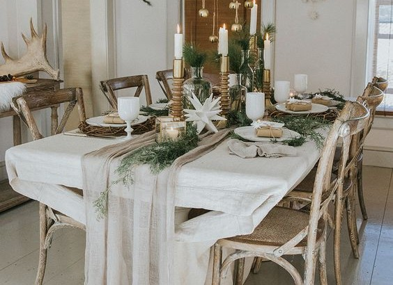 inspiration boho christmas decor