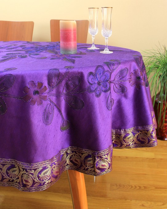 Hand Painted Floral Round Tablecloth 70 Quot Amp 90 Quot Round