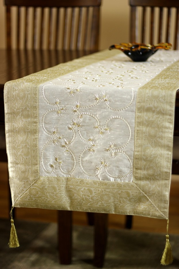 Attractive Hand Embroidered Table Runner