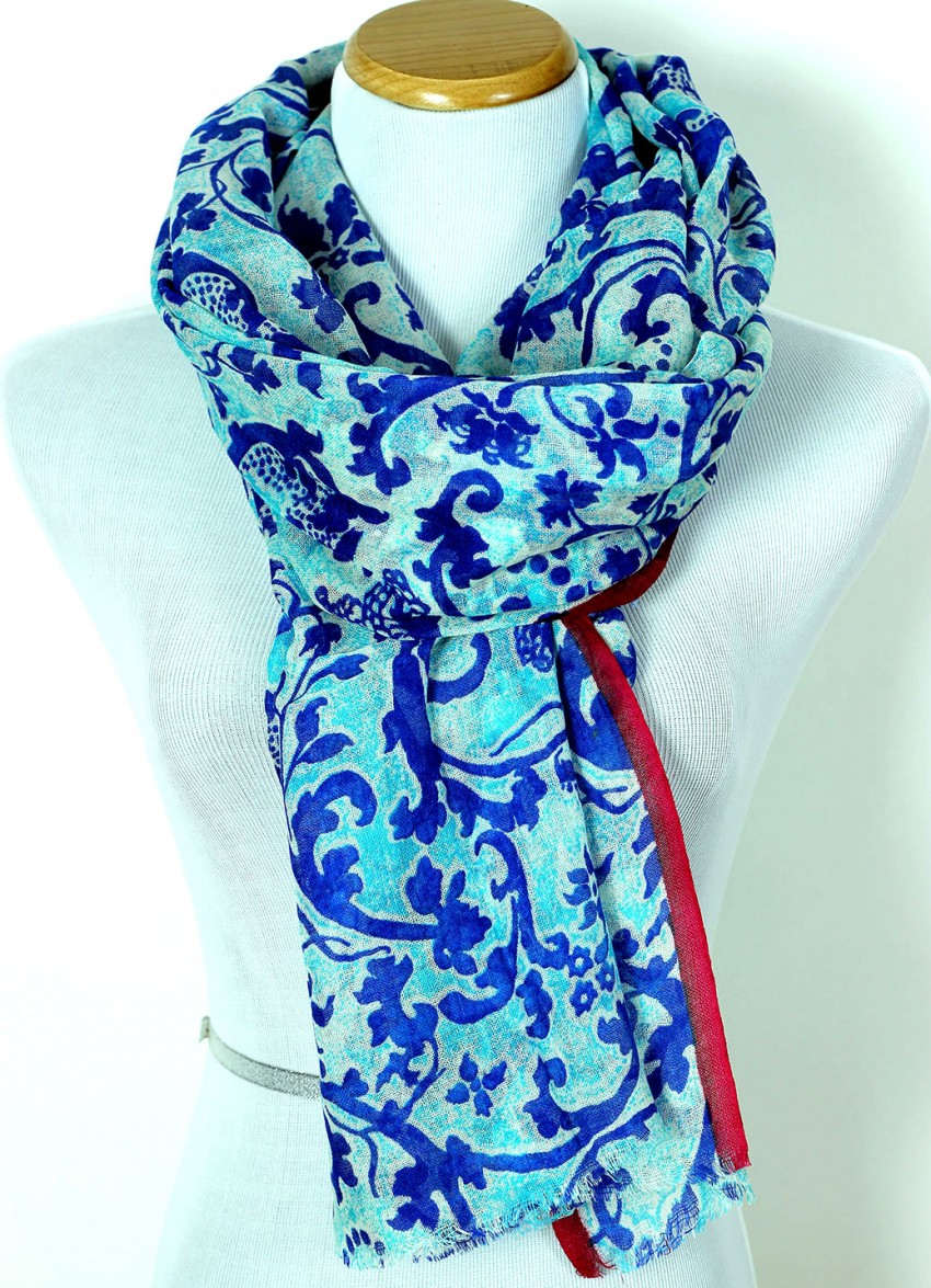 Kate Spade New York Floral Scarves & Wraps for Women. Add to your wardrobe with one of these Kate Spade New York floral scarves. These floral scarves have a feminine pattern, so you can add a soft accent to your attire.