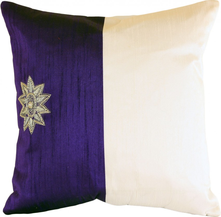 Modern Pillow Ideas : Modern Two Tone Accent Pillow Cover, Set of 2 Banarsi Designs