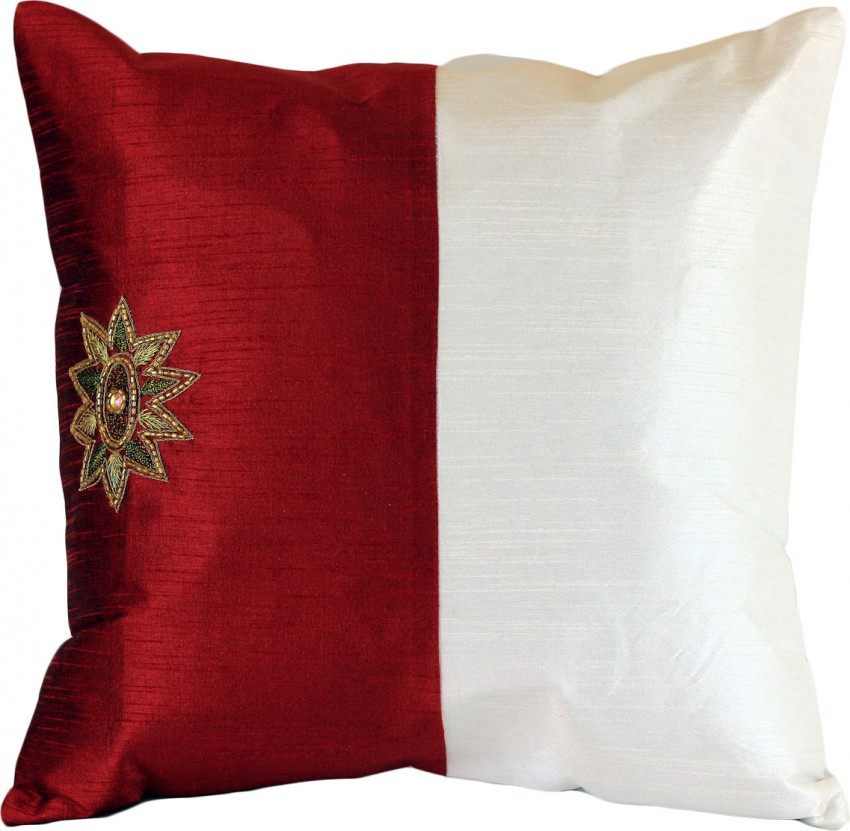 Modern Throw Pillow Ideas : Modern Two Tone Accent Pillow Cover, Set of 2 Banarsi Designs