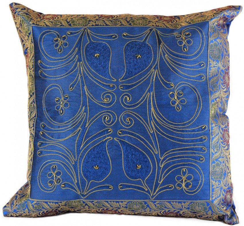 Ornamental Embroidered Throw Pillow Cover Set Of 2