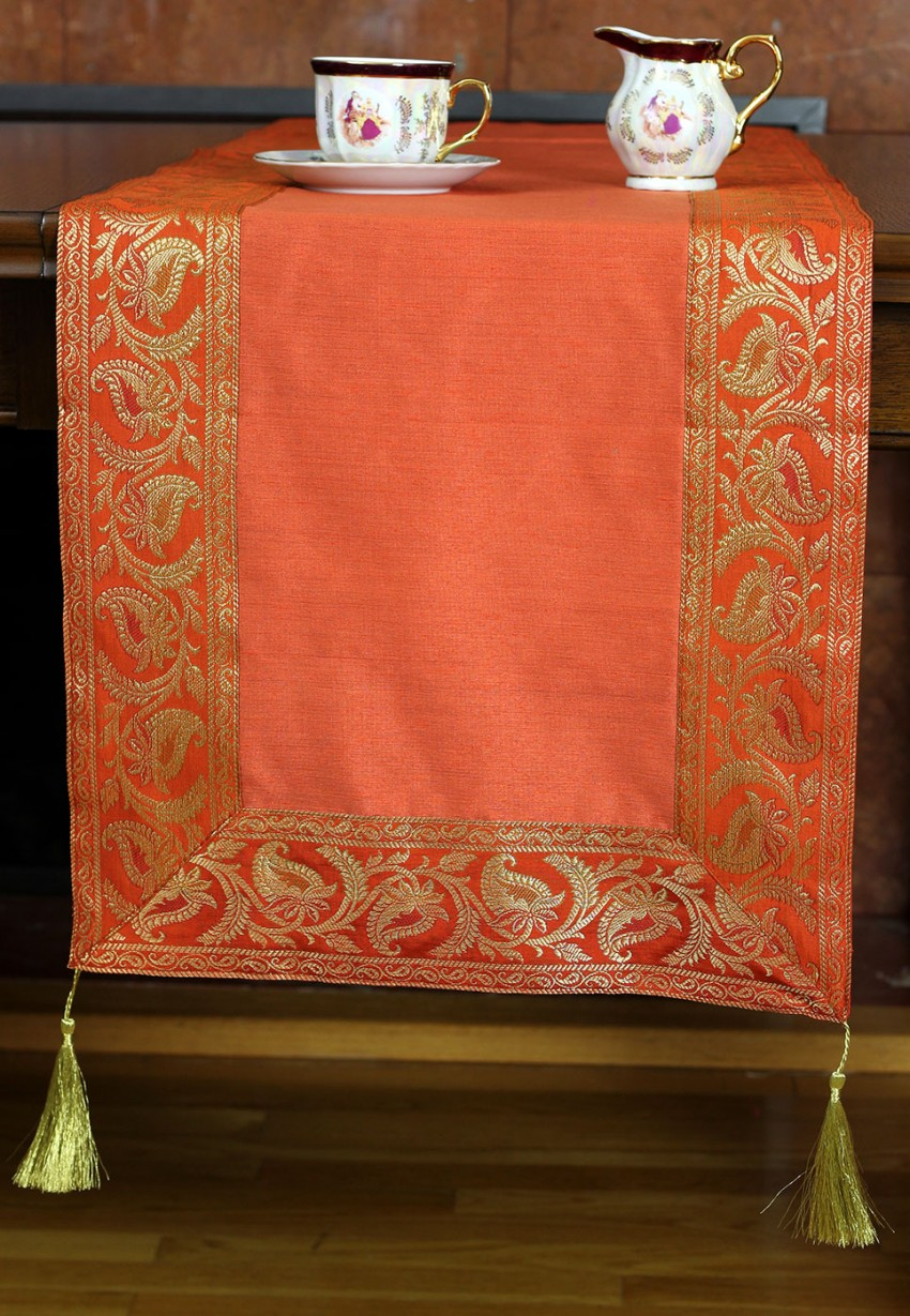 Banarsi Saree Border Table Runner Banarsi Designs