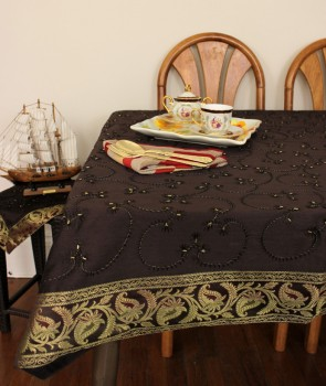 Hand Embroidered Rectangular Tablecloth