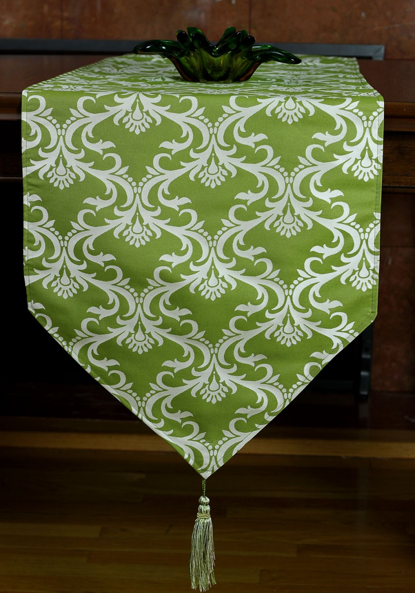 Damask Style Elegant Table Runner Banarsi Designs
