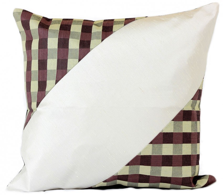 Modern Accent Pillow Covers : Modern Blocks Checkered Pillow Cover, Set of 2 Banarsi Designs