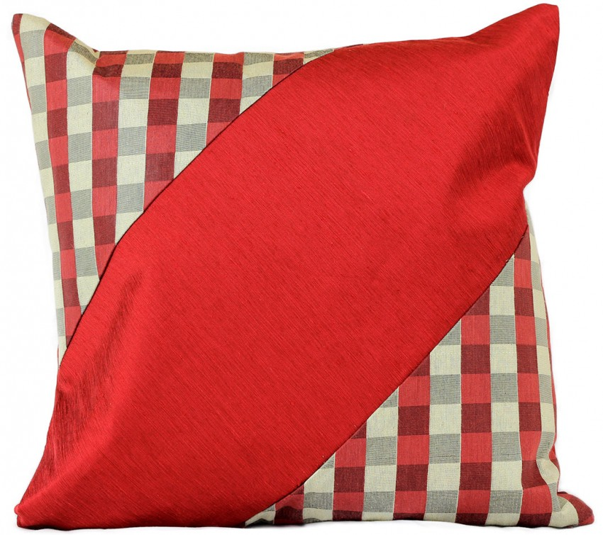 Modern Blocks Checkered Pillow Cover, Set of 2 Banarsi Designs