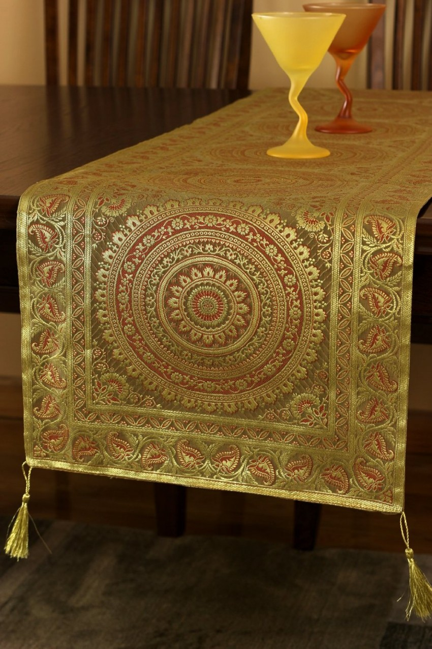 Exotic Oriental Table Runner Banarsi Designs