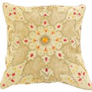 Beige Velvet Sparkle Pillow Cover