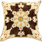 Coffee Brown Velvet Sparkle Pillow Cover