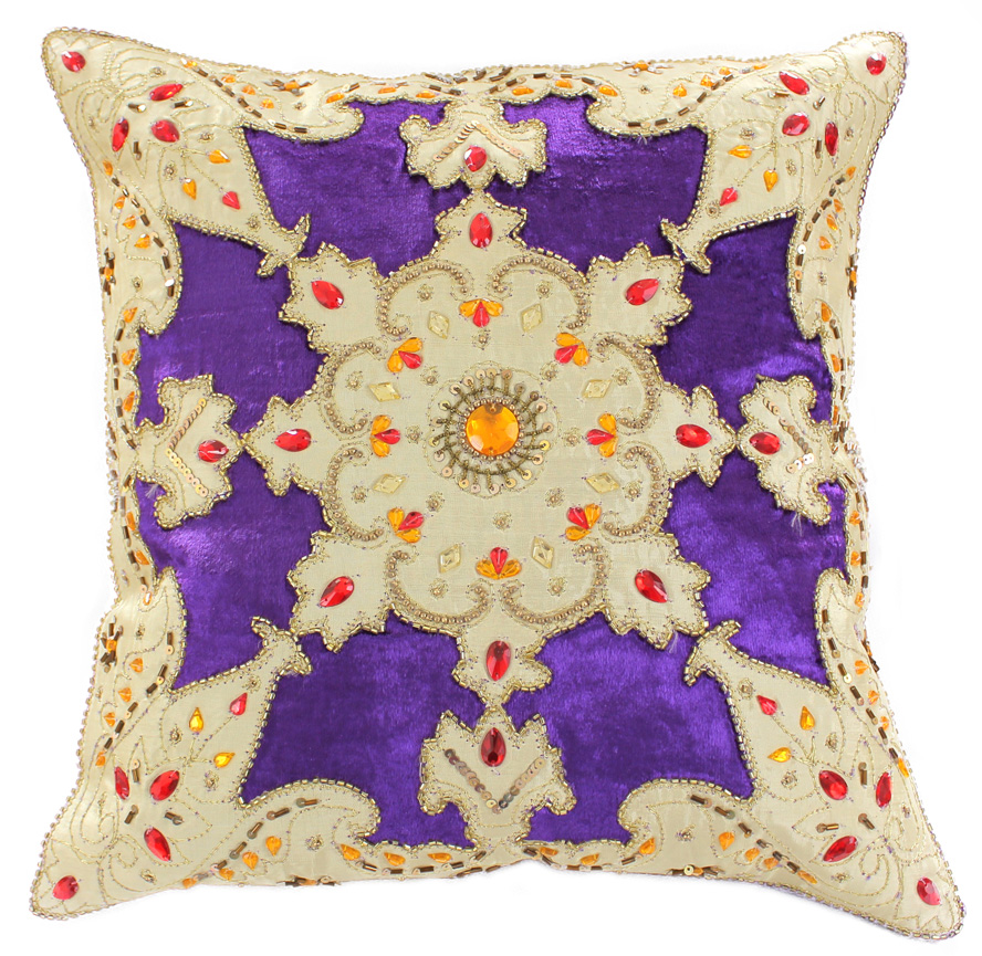 Velvet Sparkle Pillow Cover Banarsi Designs Banarsi