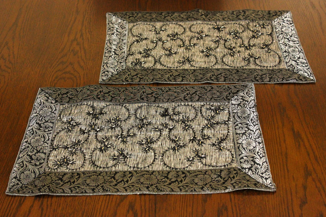 Hand Embroidered 7 Piece Placemat Amp Table Runner Set