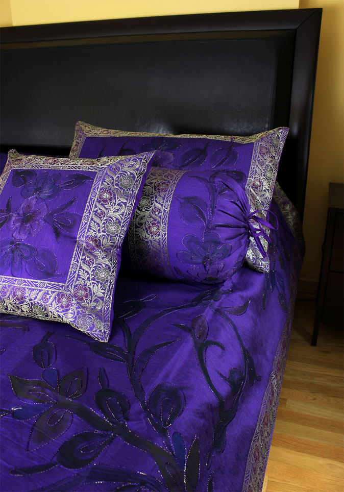 Purple Indian Bedding