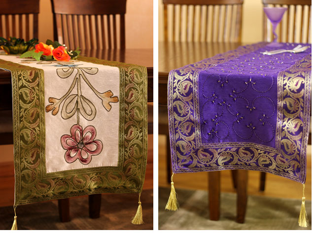 Our Table Décor Collection | Luxury Table Linens | Banarsi Designs