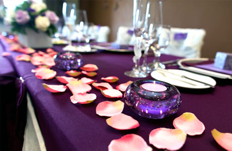 Plum Wedding Table Decorations Image Collections Purple