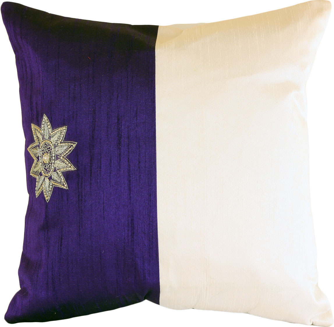 Modern Decorative Pillow Covers : Modern Two Tone Throw Pillow Cover ? Set Of 2 Banarsi Designs
