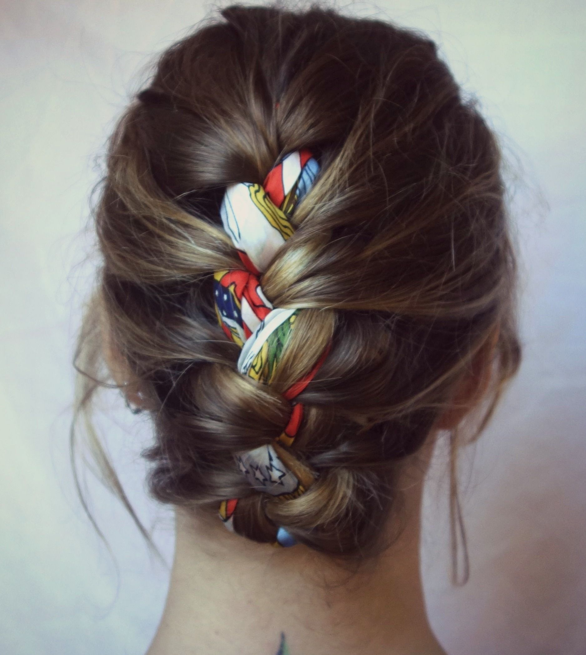 5 Updos Using Scarves