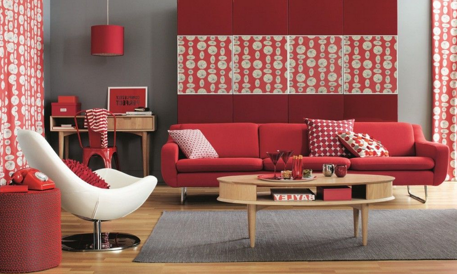 red themed living room a beginners guide to feng shui 14732