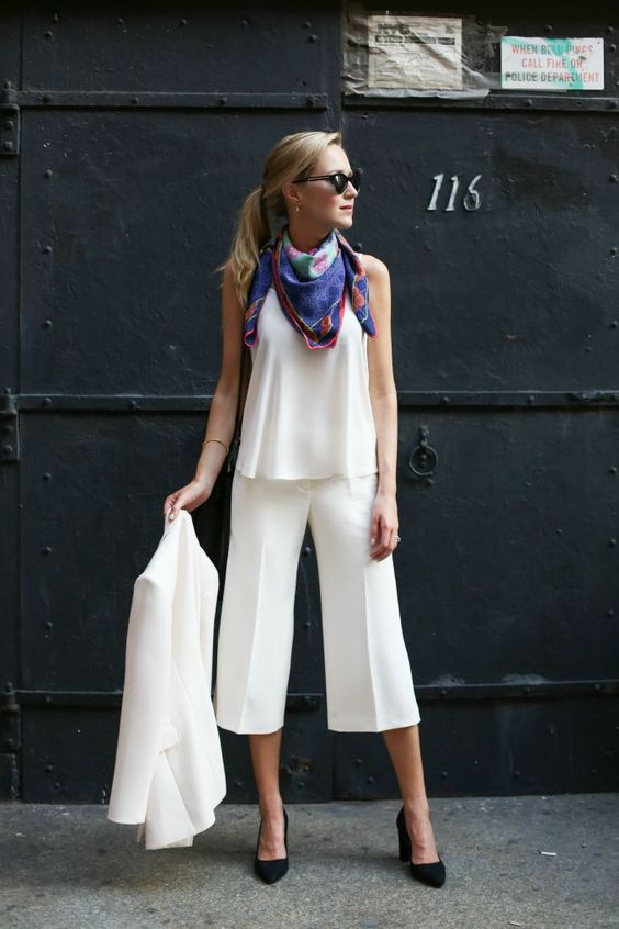 all-white-culotte-look
