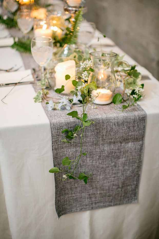 charcoal-table-runner-for-wedding