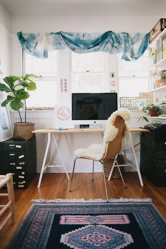 5 Boho Home Offices That Are Goals