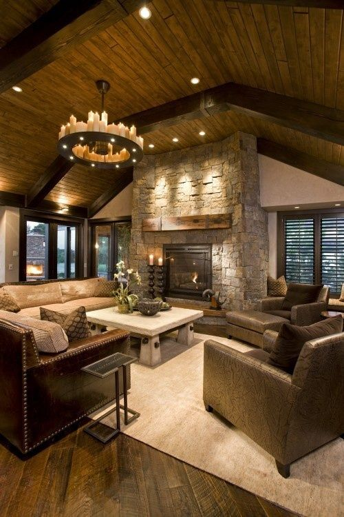 rustic-living-room Trends For Rustic Home Decor Living Room @house2homegoods.net