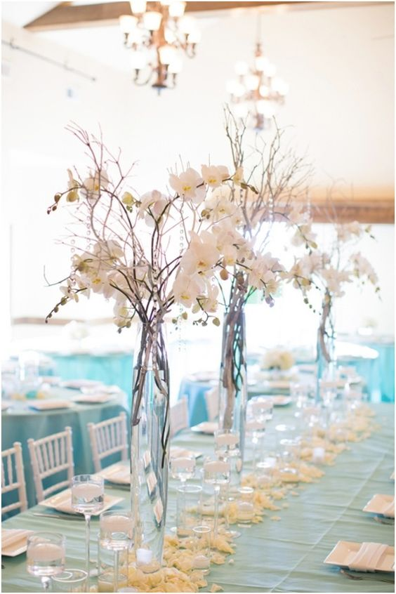 turquoise-wedding-table-layour