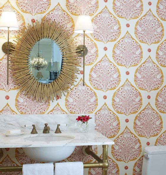 paisley-print-bathroom