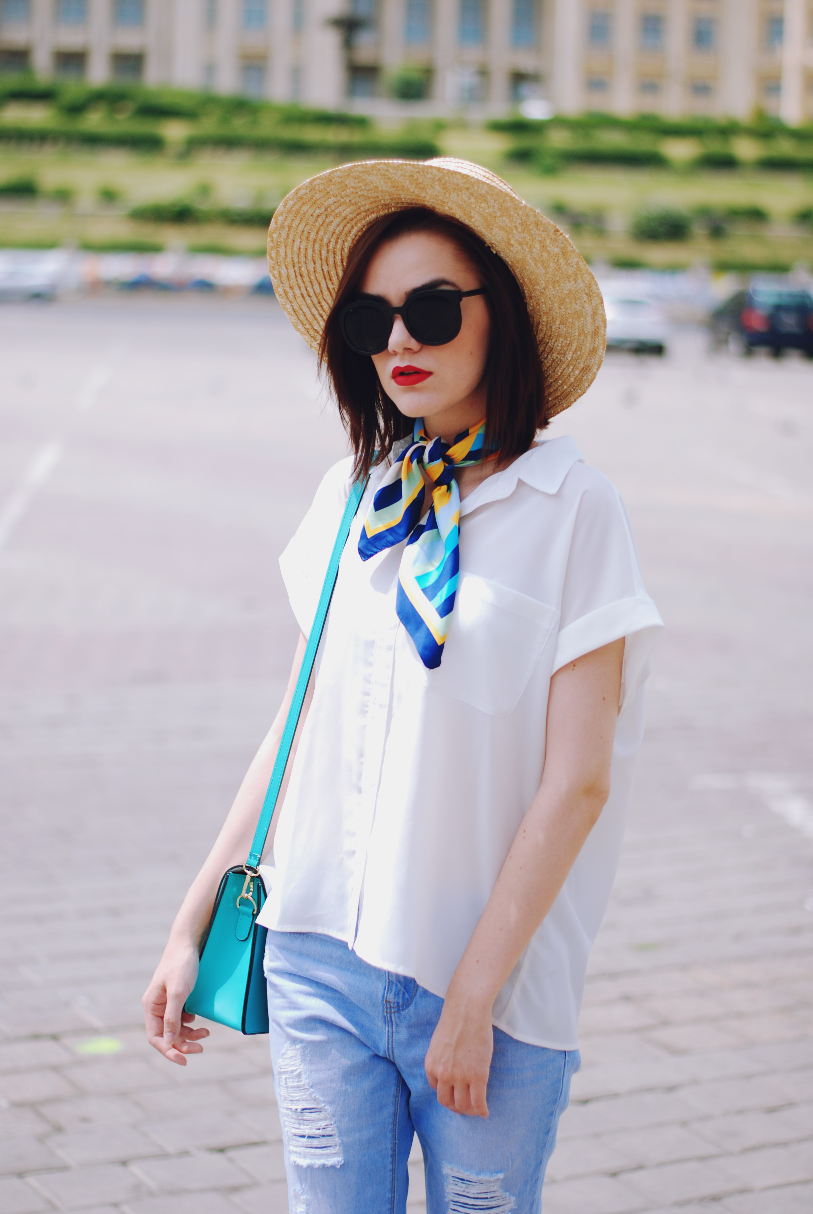 silk scarf summer outfit