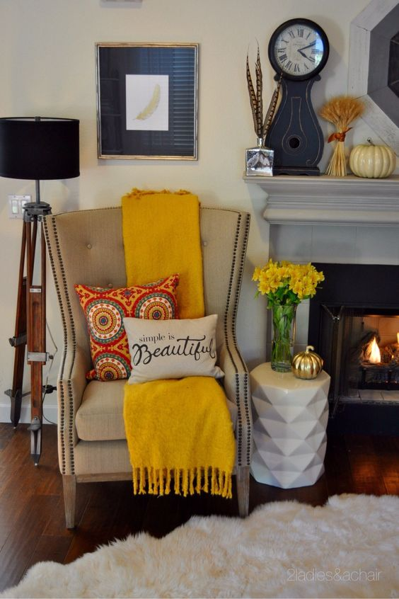 fall-decor-with-yellow