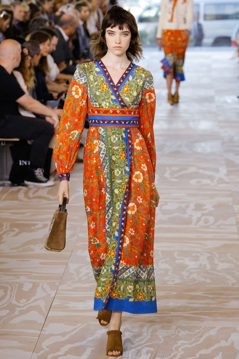 tory burch print trends spring summer 2017 new york fashion week folk florals